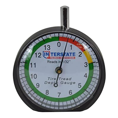 Interstate Pneumatics TG32 Professional Dial Type Tire Tread Depth Gauge: Automotive