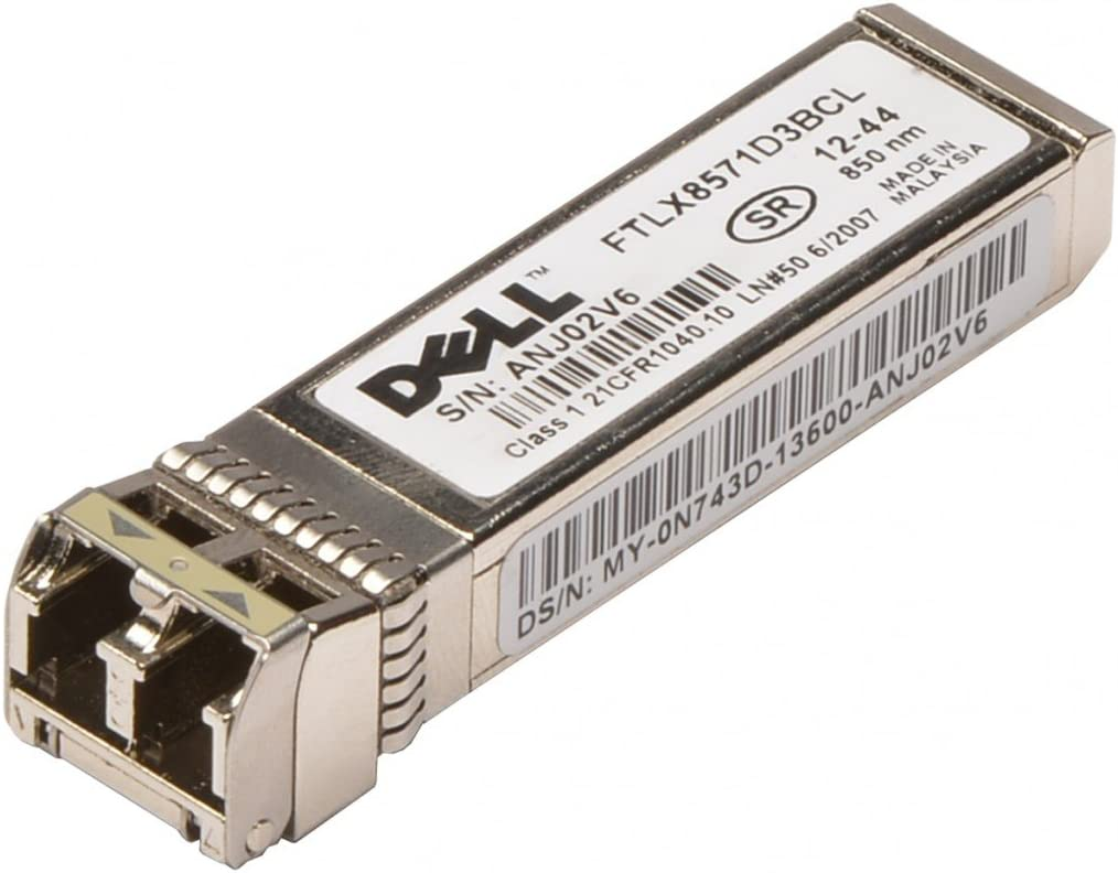 Dell N743D - Transceiver Finisar Ftlx8571D3Bcl 10Gbase-Sr/Sw; 10Gbps Fc Fibre Channel; Sfp+ Short Wavelength; 850Nm