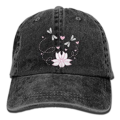 Dragonflys Love Washed Vintage Adjustable Jeans Cap Baseball Caps For Man And Woman from C&appp