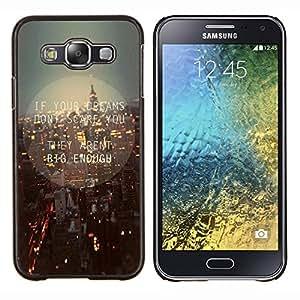 YiPhone /// Prima de resorte delgada de la cubierta del caso de Shell Armor - Luces de Nueva York calles de la ciudad la noche del horizonte - Samsung Galaxy E5 E500