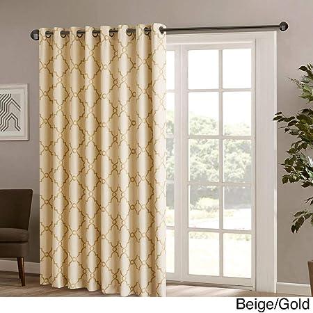 1Pieza 84 color dorado geométrico cortina de puerta corredera ...