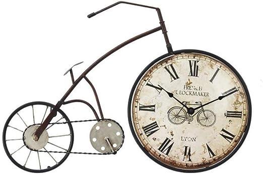 YFF-Reloj de Pared Reloj de Pared Vintage Silent Retro Nostalgia Reloj de Pared de Bicicleta Utilizado para Decorar cafés de Restaurante 丨 Estilo Industrial 丨 sin Segunda Mano Decoraciones de Pared: Amazon.es: