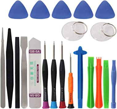 Hemobllo 8 in 1 Opening Pry Tool Repair Kit Screwdriver Universal Screen Removal Disassembly Tool Set Service Aid Compatible with iPhone Laptops Phone Tablets