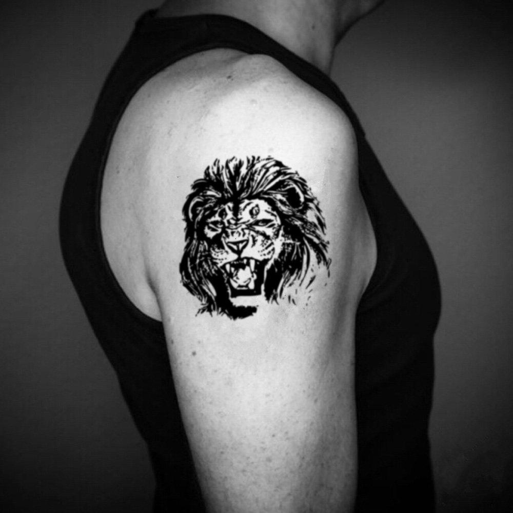 Tatuaje Temporal de León realista (2 Piezas) - www.ohmytat.com ...