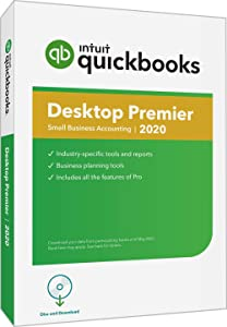 QuickBooks DesktopPremier 2020Accounting Software for Small Business with Amazon Exclusive Shortcut Guide [PC Disc]