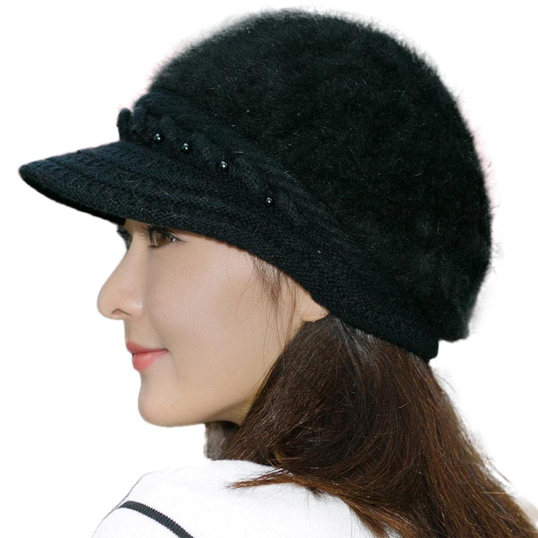 Hatop Women Winter Warm Cap Knitted Hat Beret Baggy Beanie Hat Slouch Ski Cap