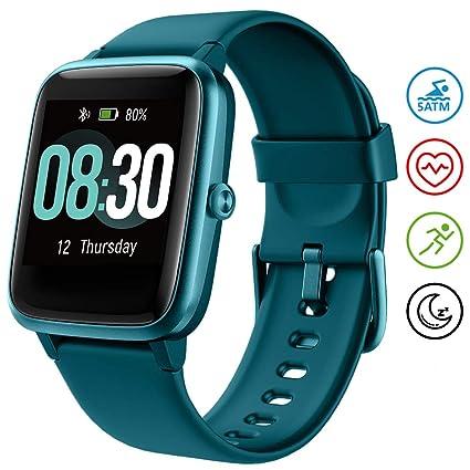 UMIDIGI Reloj Inteligente Uwatch3 5ATM Impermeable Smartwatch con Cronómetro Pulsera Actividad para Deporte de Fitness con Podómetro Smartwatch Mujer ...