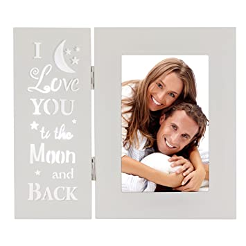 Amazoncom Ouchan Love You More Picture Frame 4x6 Light Up Carved