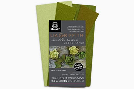 Lia Griffith Extra Fine Crepe Double Sided Paper Blush, Chiffon /&Petal, Peach 4 colours per pack