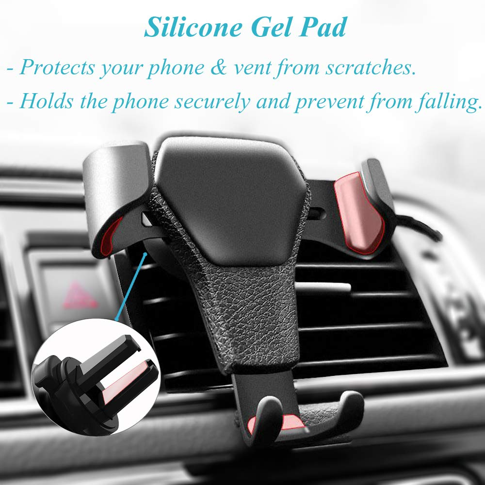 Universal car Cell Phone air Vent Mount Holder with Gravity auto Clamping Feature /& Heavy Duty for Smartphones iPhone Android for Travel /& uber