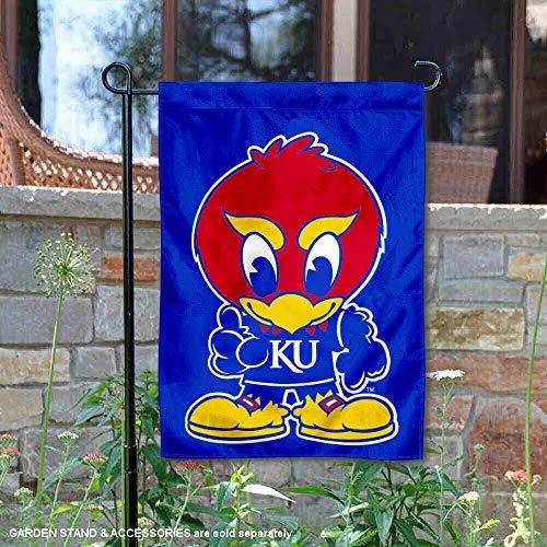 (Kansas Baby Jayhawk Garden Flag and Yard Banner )