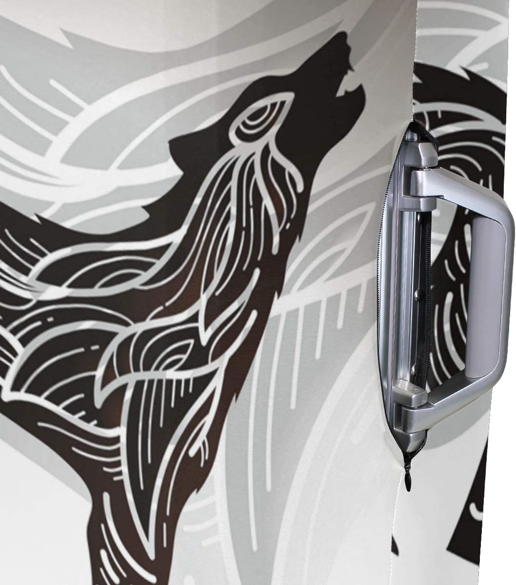 LEISISI Howling Wolf Shadow Puppet Luggage Cover Elastic Protector Fits XL 29-32 in Suitcase