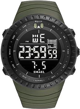 Blisfille Relojes Digitales Señora Reloj Hombre Plateado Reloj Hombre Original Relojes Inteligentes Mujer Relojes ...