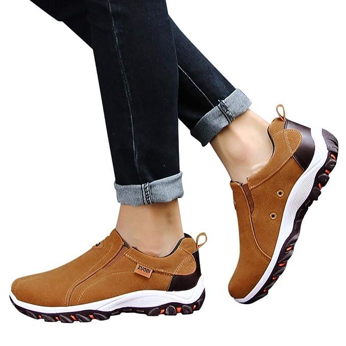 JiaMeng Zapatillas Deporte Zapatos de Entrenamiento para Hombre Malla Respirable Zapatillas de Senderismo al Aire Libre Zapatos Casuales Zapatillas ...