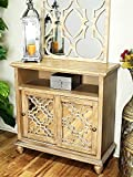 Heather Ann Creations W191550M-WD Marrakesh 2-Door Cabinet 2 Entertainment Mirror Inserts, Ashwood Veneer