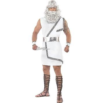 NET TOYS Traje de Zeus Disfraz Dios Griego Vestuario: Amazon ...