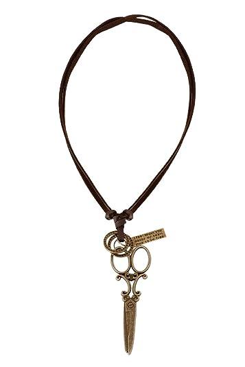 Bijou vertex brown oxidised brass mens leather necklace with bijou vertex brown oxidised brass mens leather necklace with scissor pendant now avail extra aloadofball Gallery