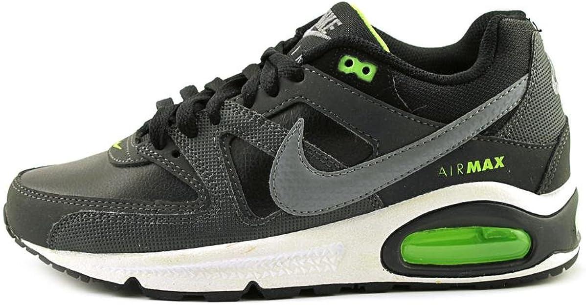 Nike Air Max Command (GS) – Chaussures d'athlétisme et Running pour Enfant, Couleur NoirVert néonBlanc