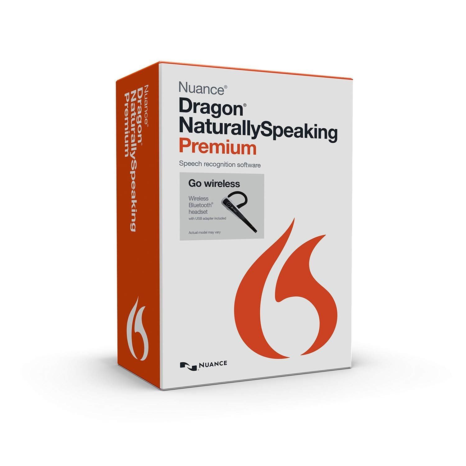 Nuance Dragon NaturallySpeaking Premium 13.0 with Dragon Bluetooth Wireless Headset (Discontinued) by Nuance Dragon