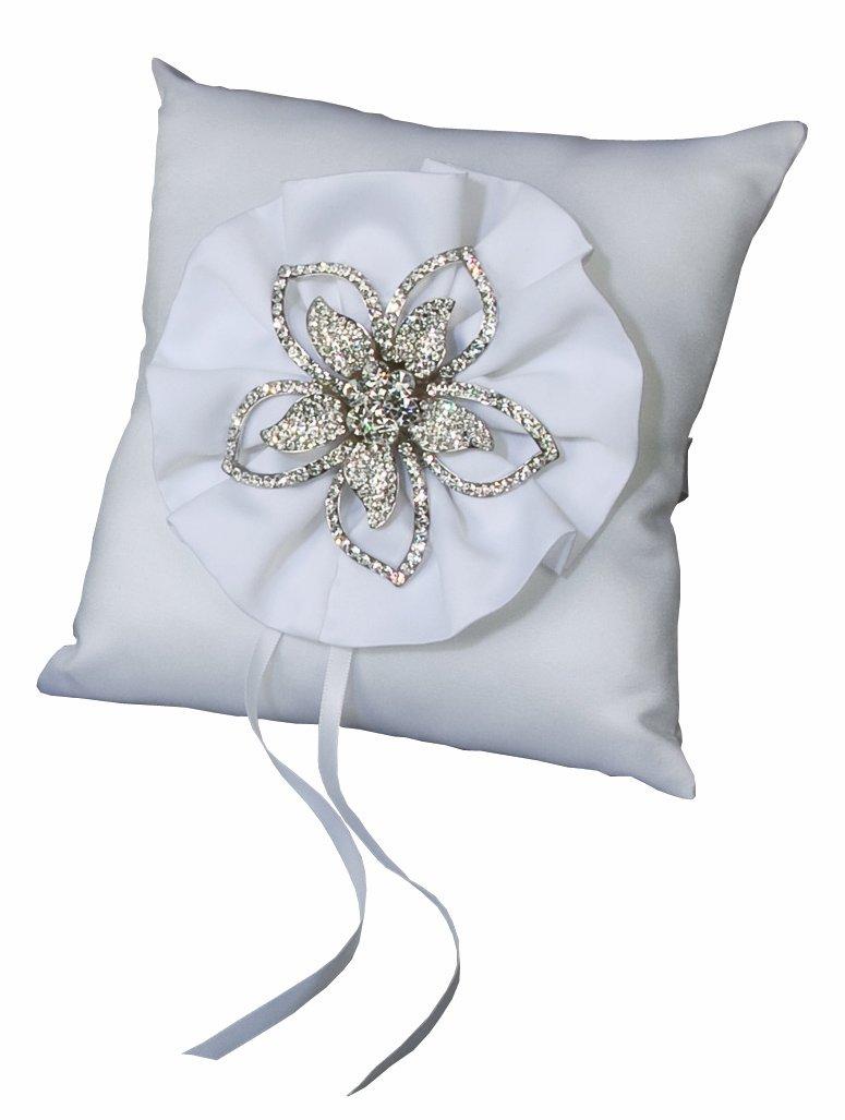 Ivy Lane Design Wedding Accessories Verona Ring Pillow, White