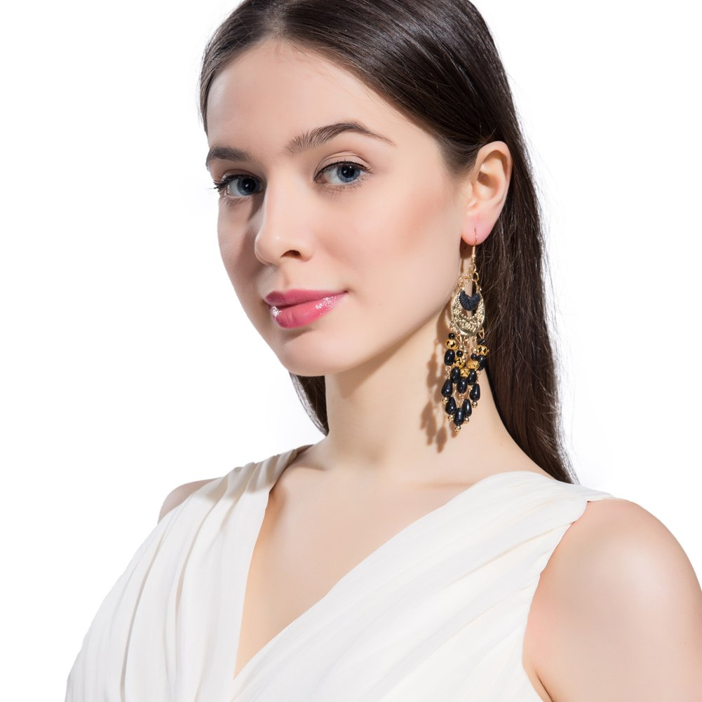 Mothers Day Earrings for Women Girls Bohemia Beaded Chandelier Dangle Drop Earrings Boho Native Style