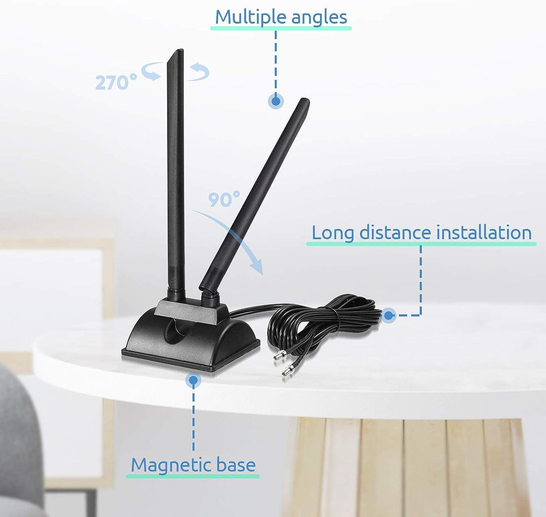Bingfu 4G LTE Aerial TS9 Antenna Magnetic Base MIMO Antenna 6dBi for MiFi Mobile Hotspot Router Huawei E5577 E5573 USB Modem Netgear LB2120 Nighthawk M1 MR1100 M2 MR2100 AC785 AC797 AC790 AC810
