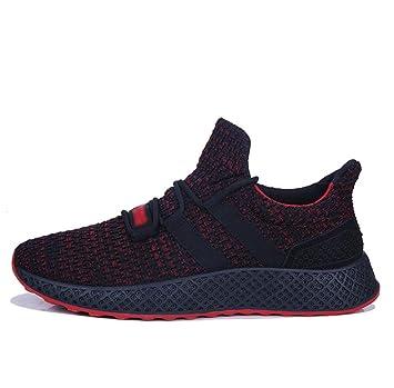 HDWY Zapatos De Los Hombres Casuales Transpirable Desgaste De Caucho Zapatillas Deportivas Tendencia Zapatillas De Running: Amazon.es: Deportes y aire libre