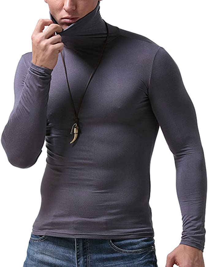 New Mens Thermal Underwear Button Vest Long Sleeve Tops Ski Warm Winter T Shirt
