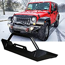 TURBO SII 1997-2006 Jeep Wrangler TJ 4WD, 2004-2006 Jeep Wrangler Unlimited LJ 4WD, 1987-1995 Jeep Wrangler YJ 4WD Rock Crawler Front Bumper With Winch Mounting Plate (Black)