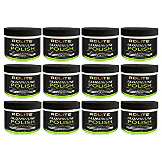 Rolite Aluminum Polish (1lb) for All Aluminum & Bare Metal Surfaces, Canoes, Jon Boats, Pontoons, Diamond Plate, Aluminum Non-Coated Wheels 12 Pack