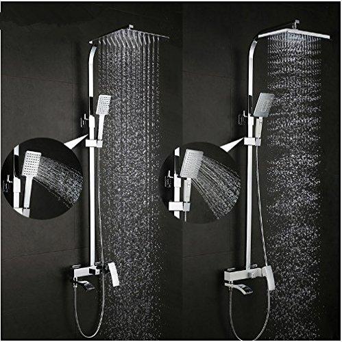 Gowe shower faucet set bronze bathtub faucet mixer tap waterfall wall shower head chrome Bathroom Shower set 0