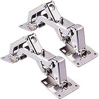 BesYZY 2 stuks schroefscharnier met veer openingshoek 170° opklapscharnier deurscharnier meubelscharnier van staal…