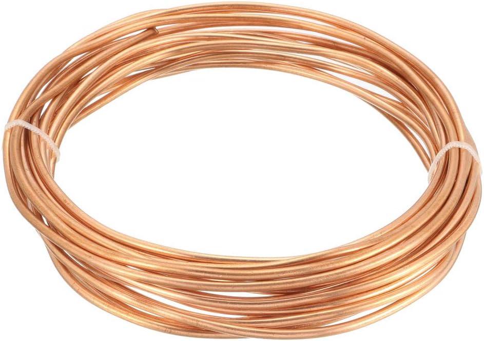 sourcing map Tubos de refrigeraci/ón de 3,5 mm 2,5 mm OD ID 16pies de longitud Bobina de tubo de cobre