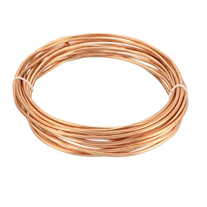 "uxcell Refrigeration Tubing, 7/64"" OD x 1/16"" ID x 16 Ft Soft Coil Copper Tubing"