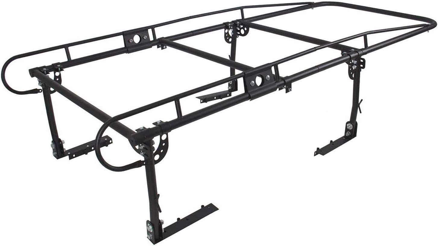 ECOTRIC Adjustable Full Size Truck Contractor Ladder Rack