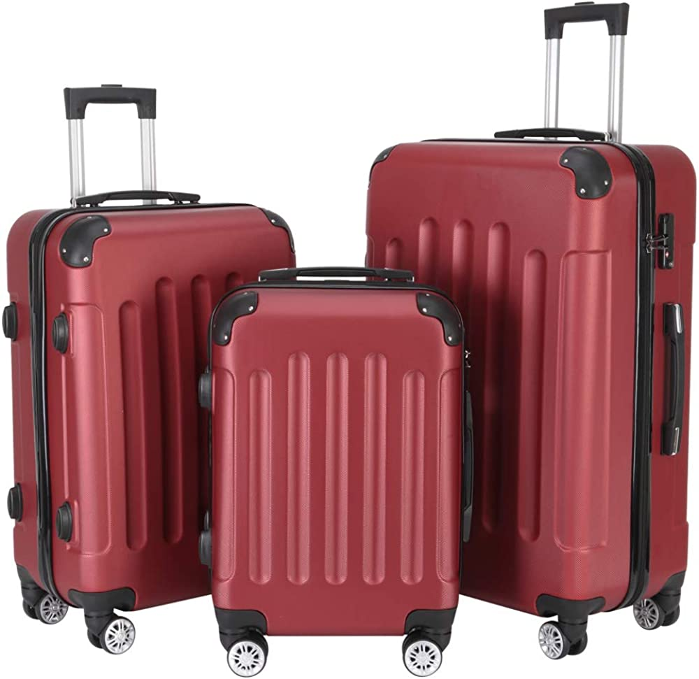 3-in-1 Luggage Set,Multifunctional Large Capacity Traveling Storage Suitcase 20 24 28
