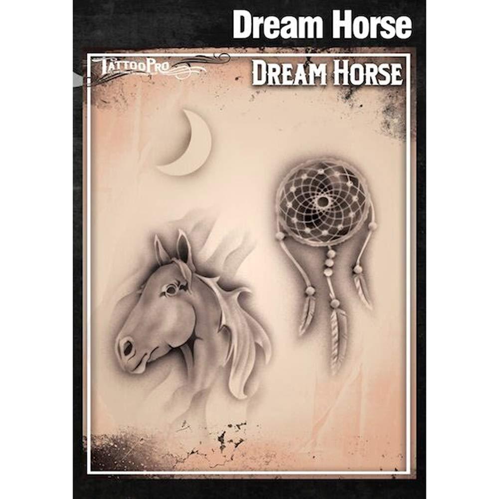 Tatuaje Pro Plantillas Serie 3 - Sueño caballo: Amazon.es: Hogar