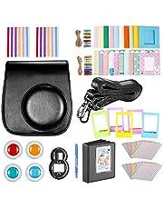Neewer 10-en-1 Kit Accessoires Noir pour Fujifilm Instax Mini 9 8+ 8 8s: Housse/Album/Objectif de Selfie / 4X Filtre de Couleur/ 5X Cadre sur Table/ 20x Cadre Suspendu sur Mur