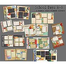 School Days K-8 Scrapbook Kit - 9 Double Page Layouts