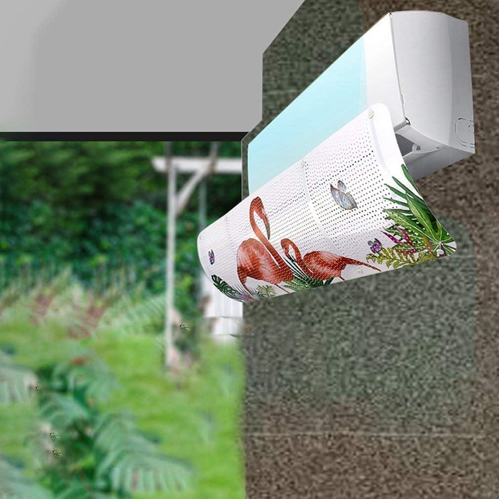 FISOUL Deflector de Viento con Deflector retr/áctil para Aire Acondicionado antisoplado