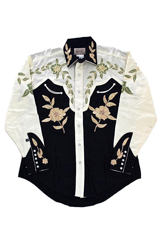 35c450db3 Rockmount 2-Tone Floral Embroidered Western Shirt 6869-2TONE-Black-S ...