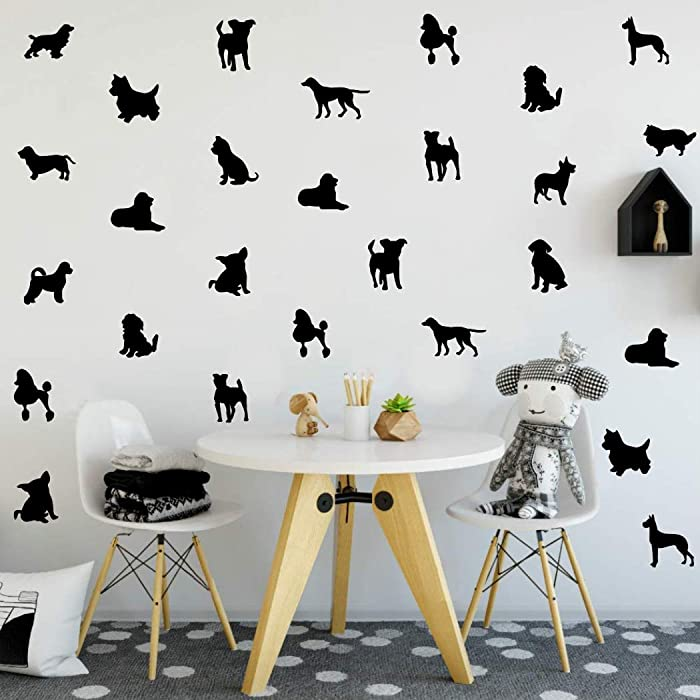 Top 9 Dog Silouette For Wall Decor