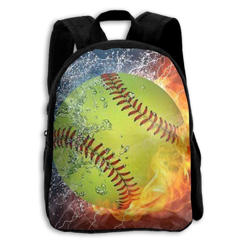 sdeyr79スタイリッシュな子ソフトボール世界シリーズ学校バックパックBookbags Middle Bags Daypack For Boys Girls   B07FZTF893