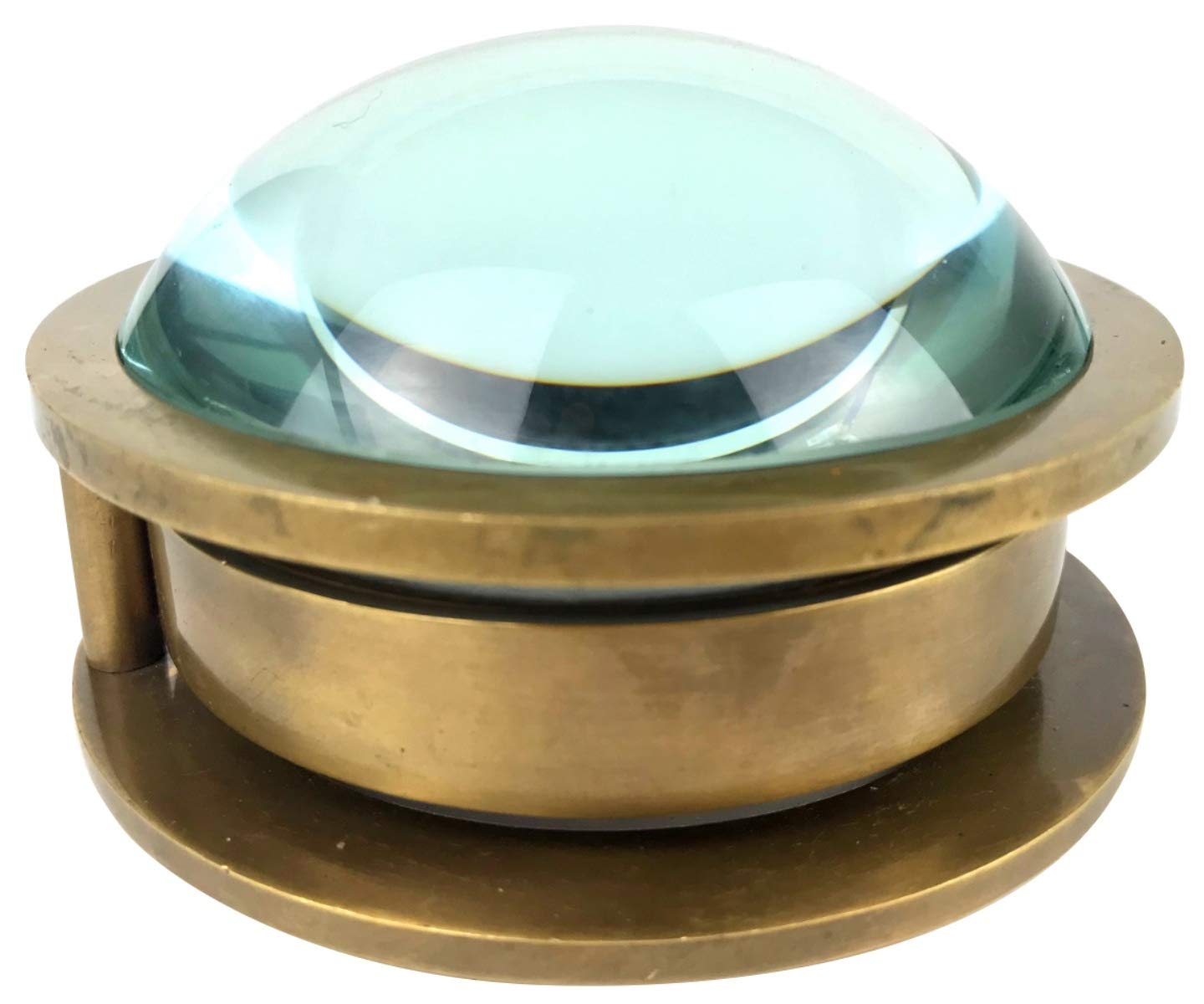 Paperweight Glass Bubble Dome Compass and Magnifier Glass
