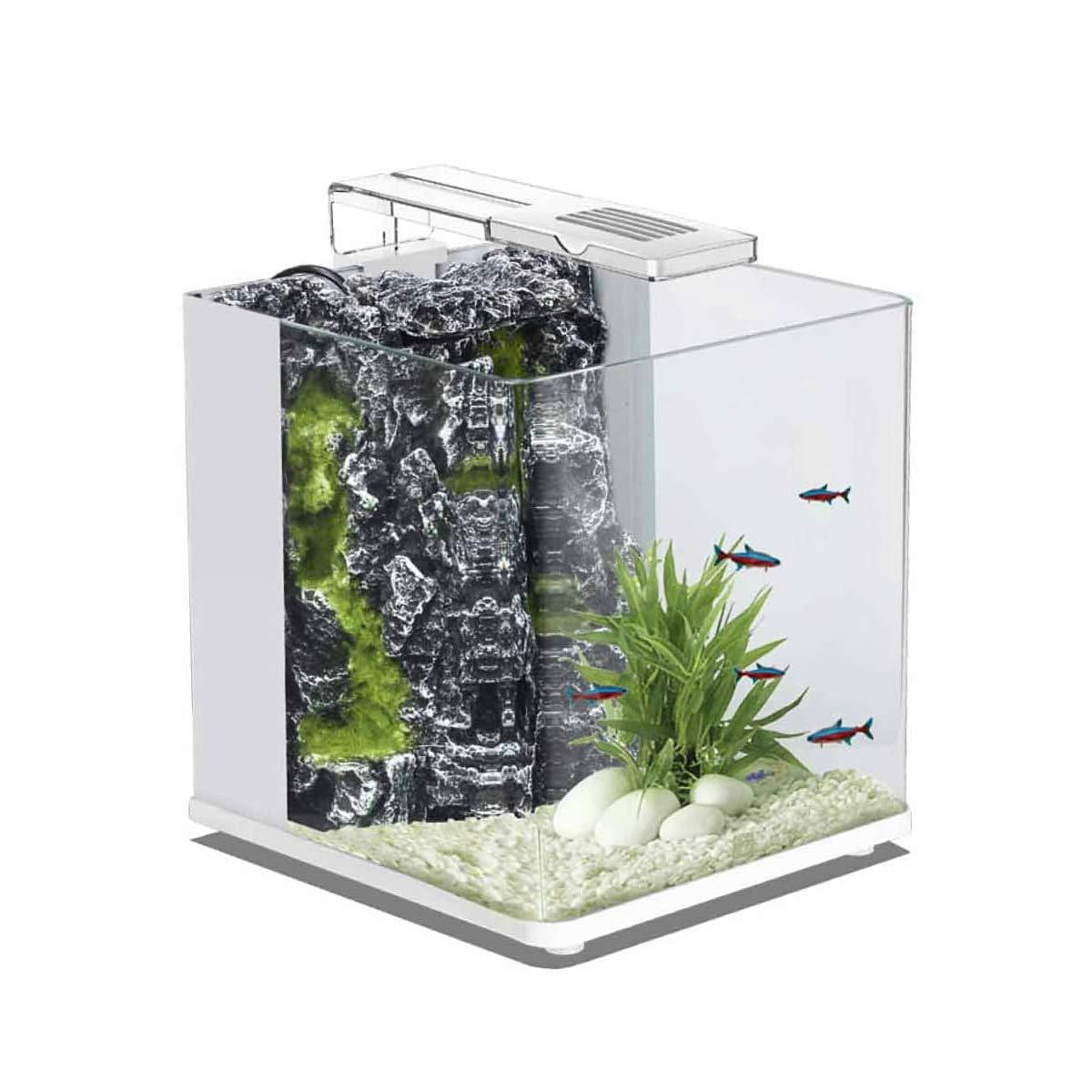 blueBios Nanux Rock Glass Aquarium 18 Litres White