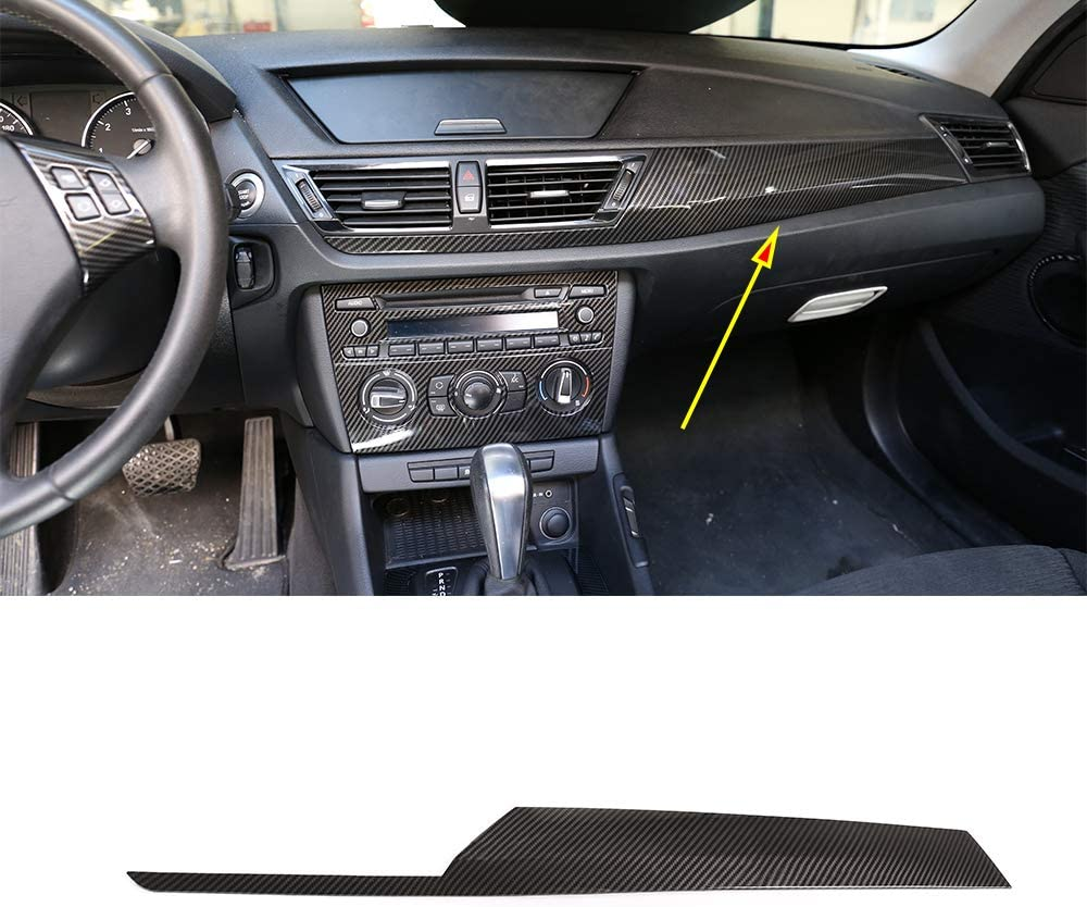 YIWANG Carbon Fiber Style Car Interior Center Console Decoration Panel Cover Trim for BMW X1 E84 2010-2015 Left Hand Drive Auto Accessories