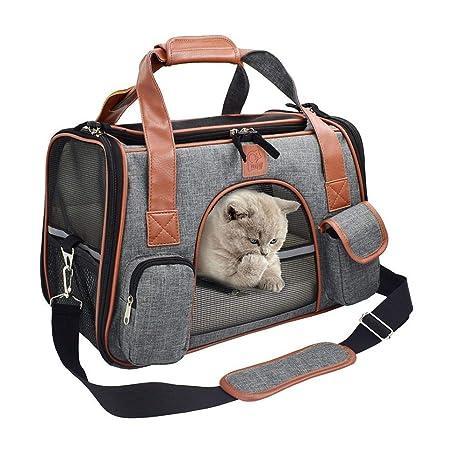 Sunneey Transportín para Perros Y Gatos Portador, Bolsa de Transporte & Perros Caja de Viaje Bolso de Hombro para Transporte en Tren, Coche y Avión: Amazon.es: Productos para mascotas