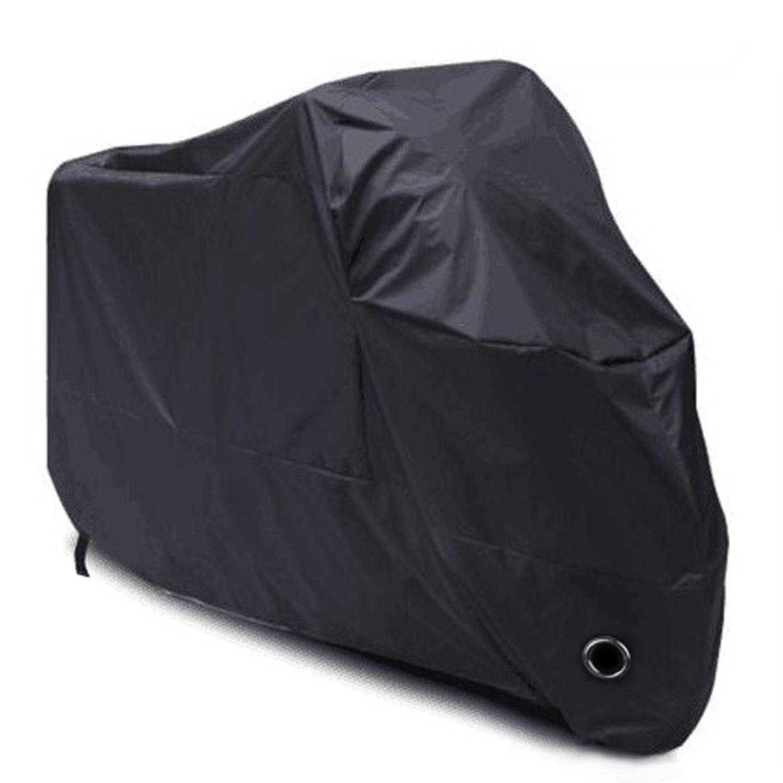 LIHAO Motorradgarage Winterfest 190T Motorcycle Waterproof UV Protective Motorbike Cover Outdoor (Black)
