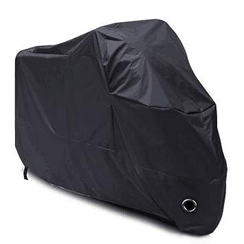 Housse de Protection pour Moto, LIHAO Couverture Imperméable en Polyester 190T pour Moto, Scooter, Taille: XL, Couleur: Noir