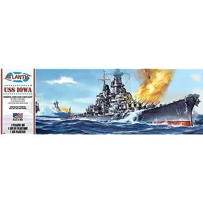 USS Iowa Big Battleship Plastic Model Kit 1/535 Atlantis Toy and Hobby: Toys & Games
